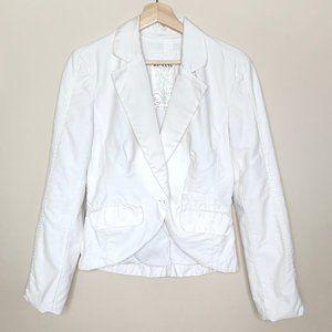 Da-Nang Embroidered White Blazer Jacket